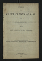 Speech of Mr. Horace Mann, of Mass.
