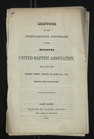 Minutes of the Twenty-Seventh Anniversary of the Missouri United Baptist Association