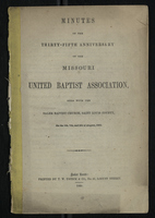 Minutes of the Thirty-Fifth Anniversary of the Missouri United Baptist Association