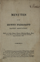 Minutes of Mount Pleasant Baptist Association, 1824