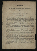 Minutes of the Mt. Pleasant, United Baptist, Association, 1834