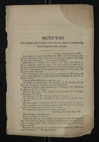 Minutes of a Convention, held November 3d and 4th, 1848, inclusive; with Mount Zion Church