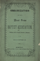 Organization of the Mount Vernon Baptist Association