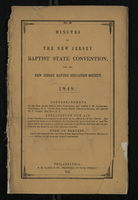 Minutes of the New Jersey Baptist State Convention