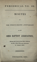 Minutes of the Twenty-Second Anniversary of the Ohio Baptist Association