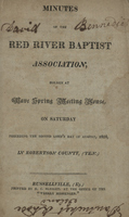 Minutes of the Red River Baptist Association, 1816