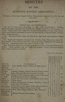 Minutes of the Redstone Baptist Association, 1808