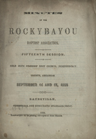 Minutes of the Rocky Bayou Baptist Association, Fifteenth Session