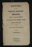 Minutes of the Scioto Baptist Association, 1817