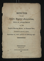 Minutes of the Scioto Baptist Association, 1825