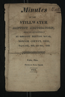 Minutes of the Stillwater Baptist Association, 1825