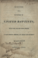 Minutes of a Convention of United Baptists