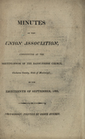 Minutes of the Union Association