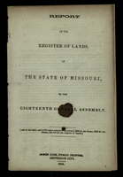 Report of the Register of Lands of the State of Missouri