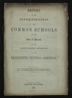 Report of the Superintendent of Common Schools of the State of Missouri