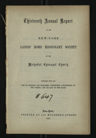 Thirteenth Annual Report of the New-York Ladies' Home Missionary Society of the Methodist Episcopal Church