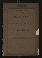 An Address to the Graduates of the Medical Department of the St. Louis University