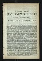 A Letter From Hon. John S. Phelps