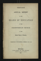 Twenty-Ninth Annual Report of the Board of Education of the Presbyterian Church
