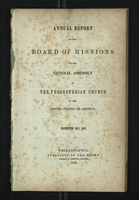 Annual Report of the Board of Missions of General Assembly of the Presbyterian Church, 1842