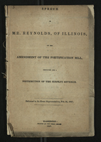 Speech of Mr. Reynolds of Illinois on the Amedment of the Fortification Bill