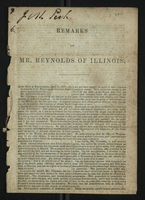 Remarks of Mr. Reynolds of Illinois