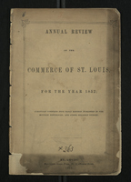 Annual Review of the Commerce of St. Louis for the Year 1852