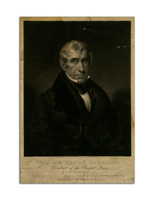 William Henry Harrison Mezzotint Print