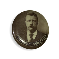 Theodore Roosevelt Sepia Button
