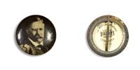 Theodore Roosevelt on Black 1 Button