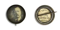 Theodore Roosevelt on Black 2 Button