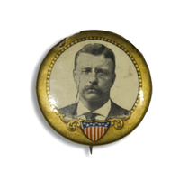 Theodore Roosevelt on Gold Button