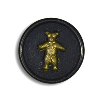 Teddy Roosevelt on Black Button