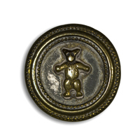 Teddy Roosevelt Gold Button