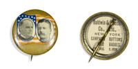 McKinley and Roosevelt, Jugate Button