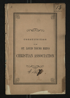 Constitution of the St. Louis Young Men's Christian Association