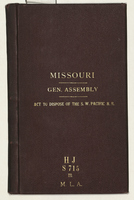 Missouri General Assembly: Act to Dispose of the S.W. Pacific R.R.