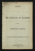 Speech of Mr. Shields of Illinois on the Territorial Question