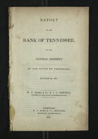 Report of the Bank of Tennessee