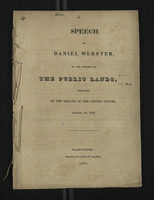 Speech of Daniel Webster on the Subject of the Public Lands