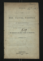 Speech of the Hon. Daniel Webster of Massachusetts