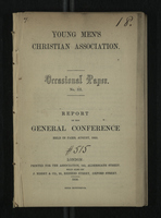 Young Men's Christian Association: Report of the General Conference