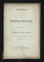 Address of the Railroad Convention
