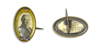 William H. Taft on Gold Oval Button