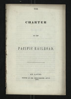 The Charter of the Pacific Railroad
