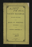 The Charter of the Pacific Railroad, By-Laws And Rules of the Board of Directors, Members of the Standing Committees, Etc.