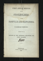 First Annual Meeting of the Stockholders of the Nashville and Chattanooga Railroad Company