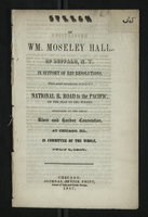 Speech of Wm. Moseley Hall, of Buffalo, N.Y.