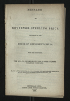 Message of Governor Sterling Price