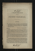 A Practicable Route for the Pacific Railroad
